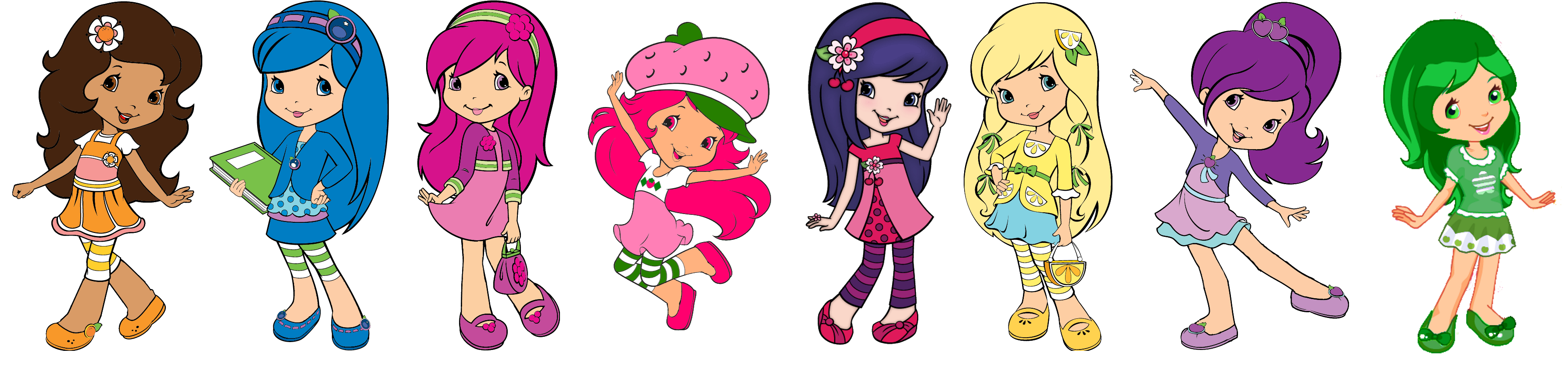 Mega Strawberry Shortcake Characters